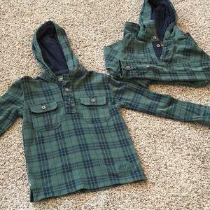 2 matching GapKids shirts- size S & M